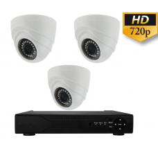 Готовый комплект видеонаблюдения внутренний на 3 камеры