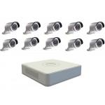 Уличный HD-AHD комплект на 10 камер